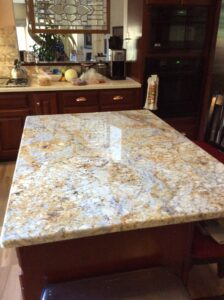 granite kitchen golden cascade